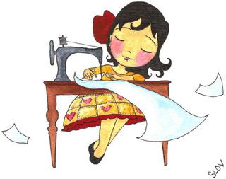 Christa at magic sewing machine