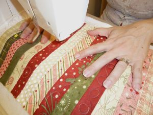 Honey Bun Strips Quilting