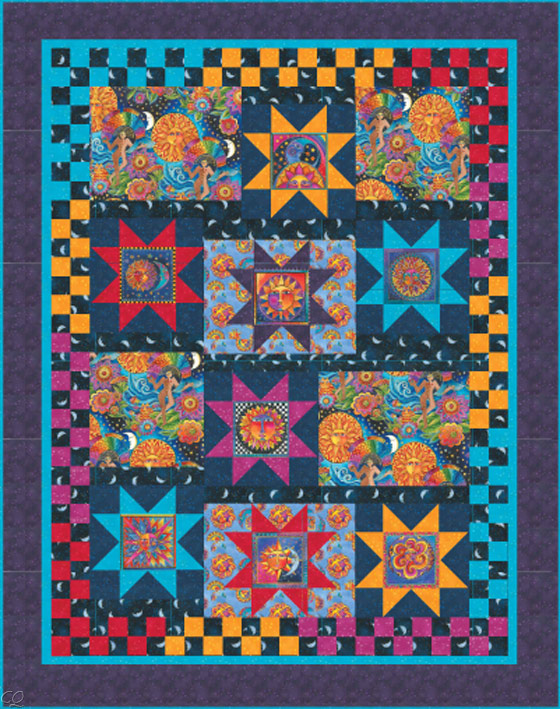 Celestial dreams by laurel burch has arrived christa quilts for Celestial pattern fabric