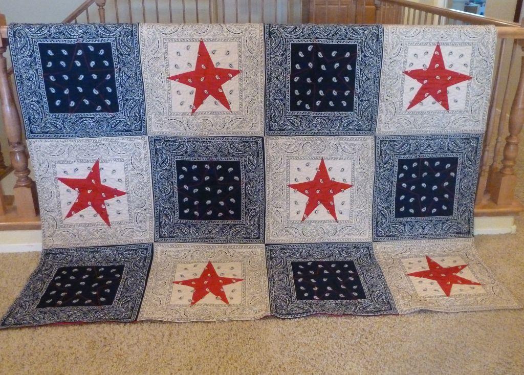 Bandana Stars Quilt – Christa Quilts : red bandana quilt - Adamdwight.com