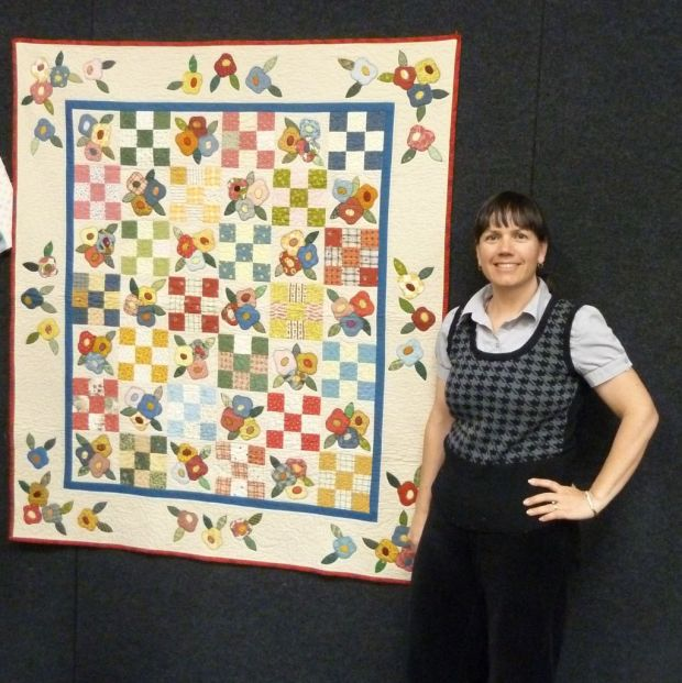 Patches and Posies Applique Quilt