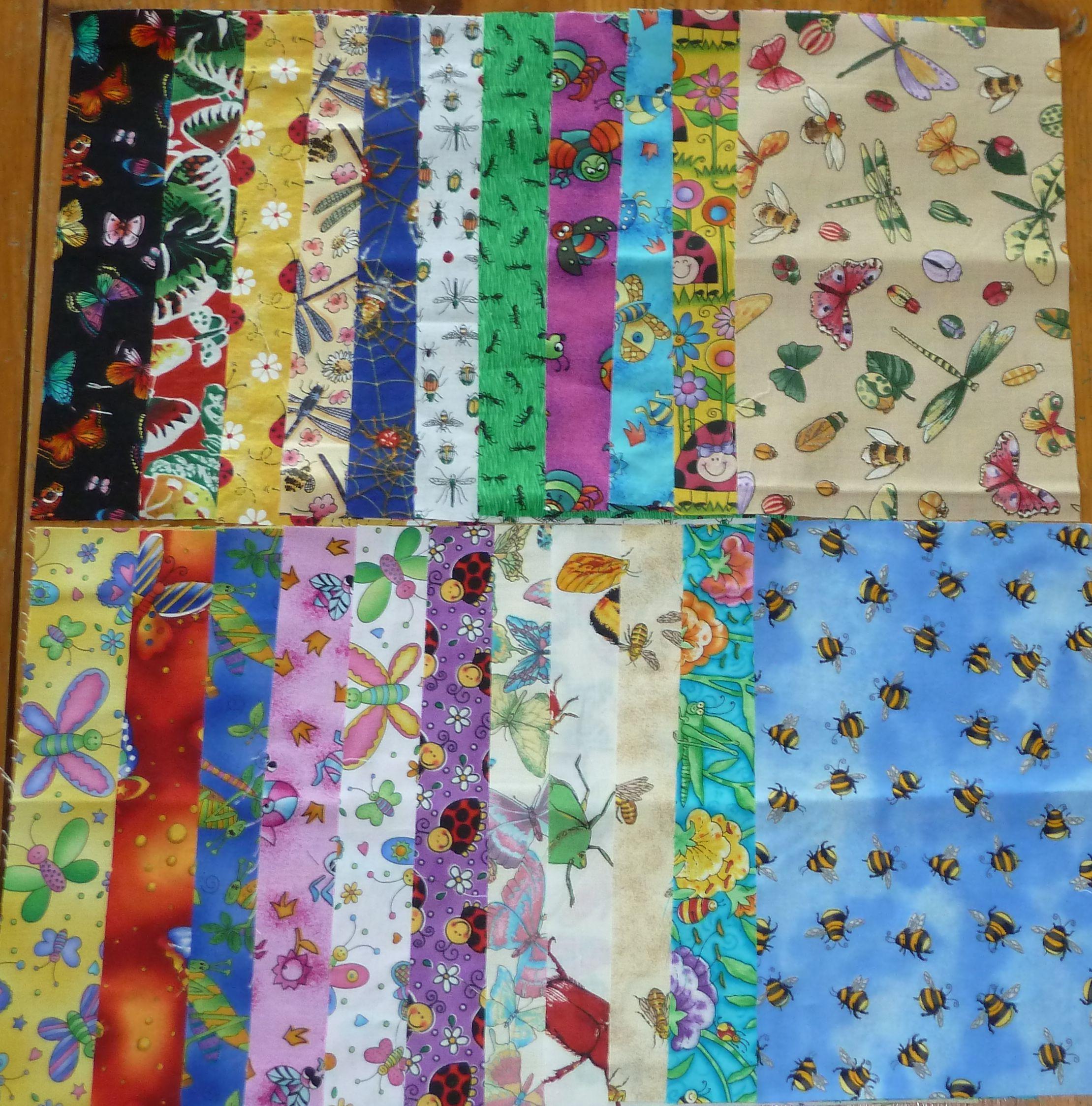 Bug Jar Blocks, Fruits & Veggies Fabric Exchange – Christa Quilts : bug quilt - Adamdwight.com