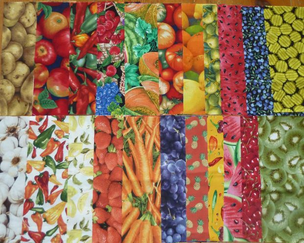 Fruit and Vegetables Fabric
