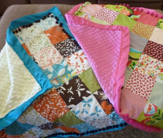 Charm Quilts with Minkee Backs