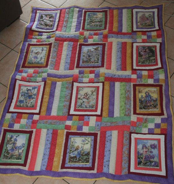Flower Fairy Panel Quilt Christa Quilts