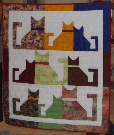 Cats Charity Quilt Christa Quilts