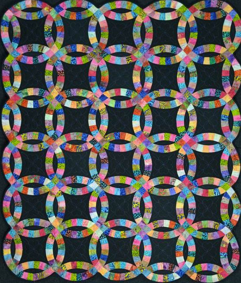 Batik Double Wedding Ring Quilt Christa Quilts