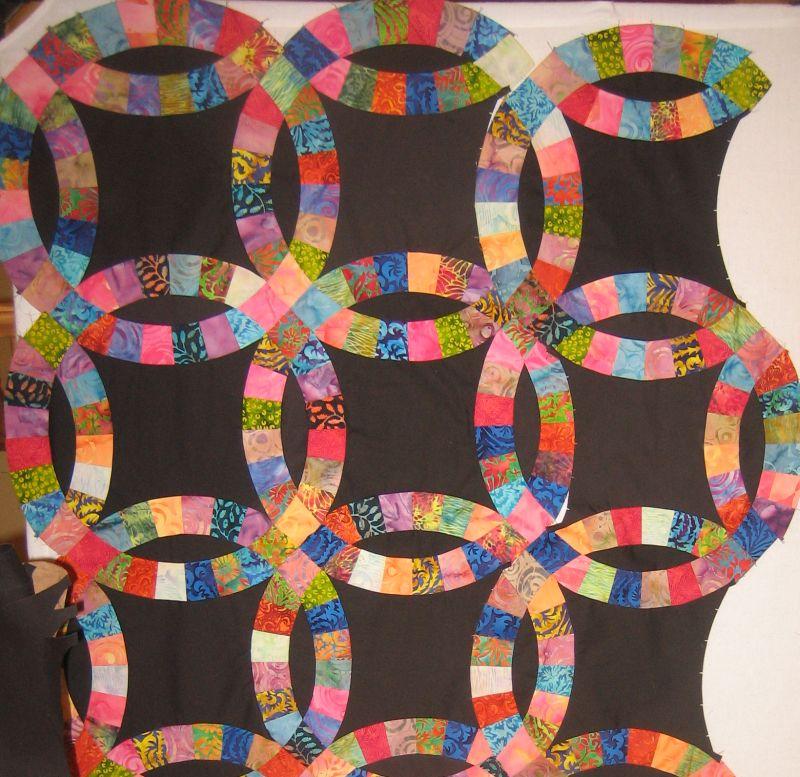 Batik Double Wedding Ring Quilt Christa Quilts