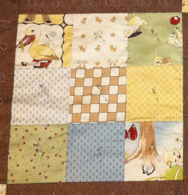 First select 41 of the 42 charm squares that comes in the charm pack
