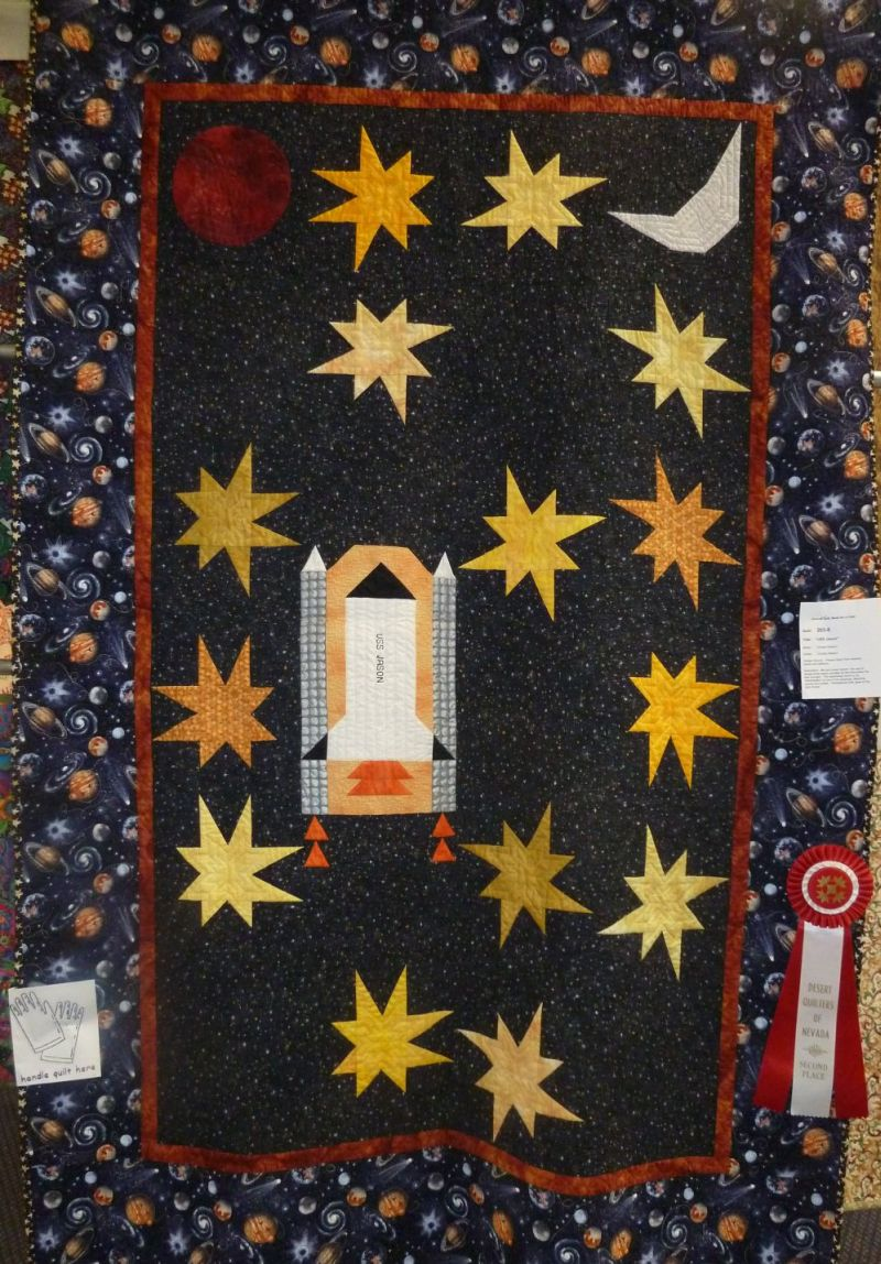 Spaceship circuit board quilting christa quilts for Space shuttle quilt
