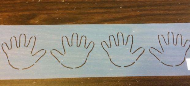 Precious Hands Stencil