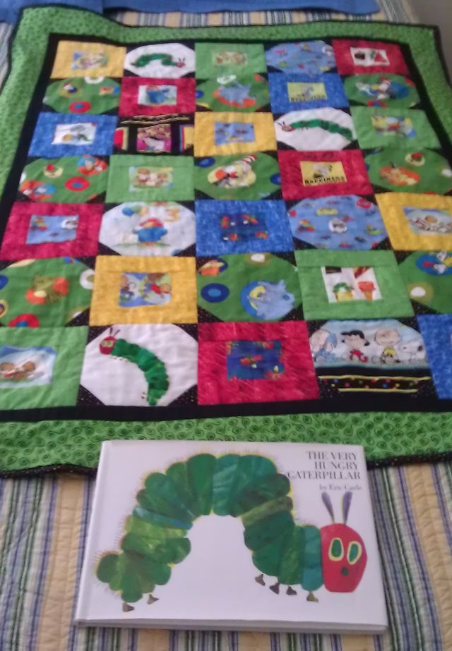 Sew and Tell – The Very Hungry Caterpillar Quilt – Christa Quilts : the hungry caterpillar quilt - Adamdwight.com