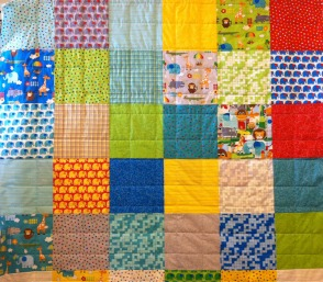 Quilt Back with Grid Quilting