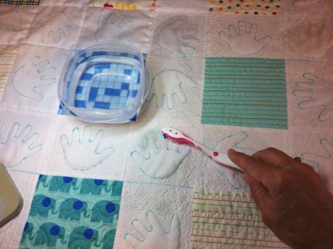 Toothbrush Eraser and Water
