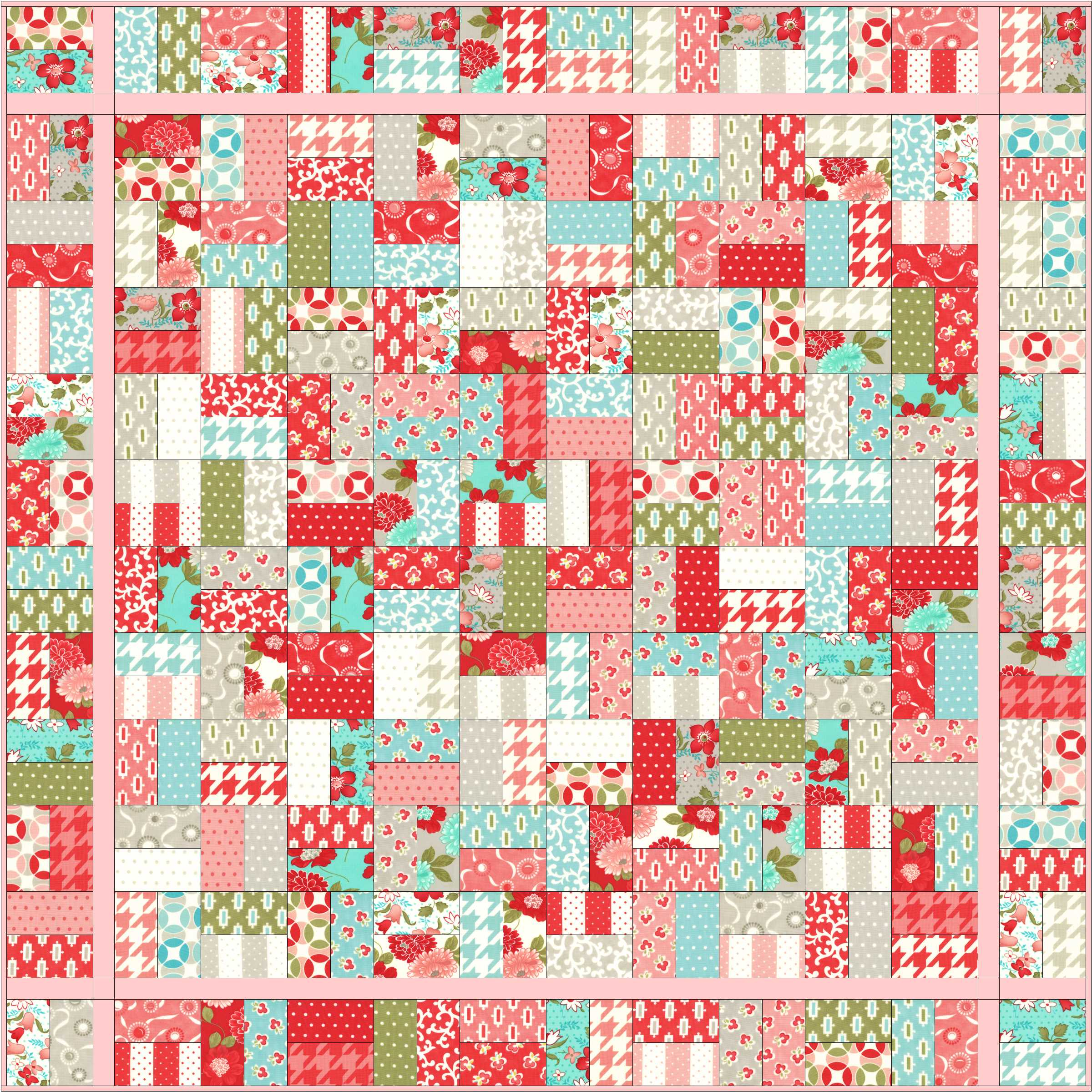 Christa's Quilts – The Jolly Jelly Roll Quilt – Christa Quilts