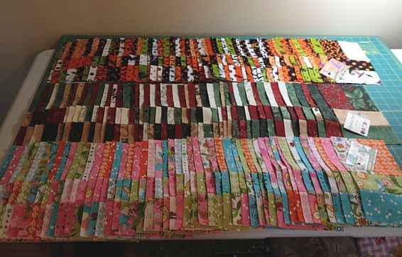 Jolly Jelly Roll Quilt Blocks
