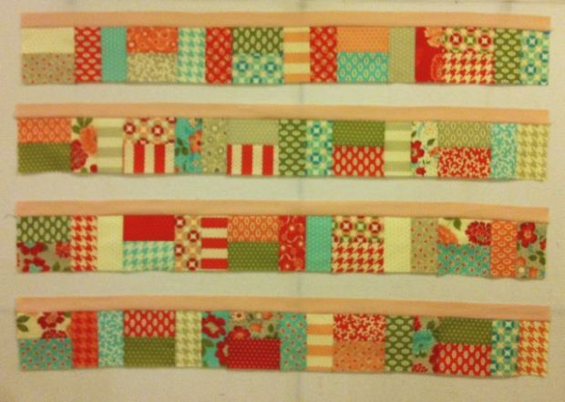 Sold Strip with Pieced Borders