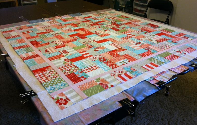 Christa's Quilt Along 1.4 – Backing and Basting Your Jelly Roll ... : quilt backing - Adamdwight.com