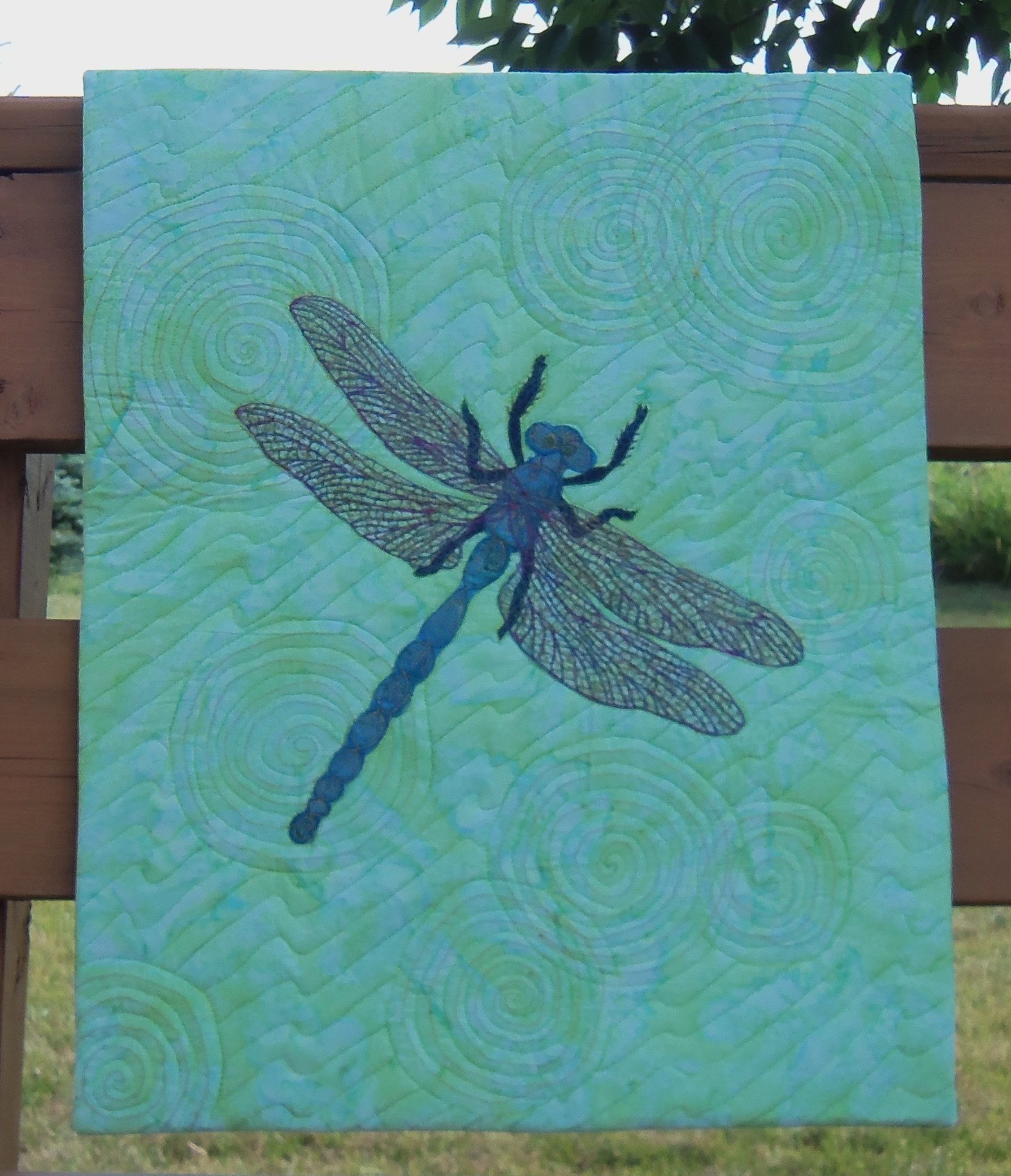 Sew And Tell Dragonfly Batik Art Quilt Christa Quilts