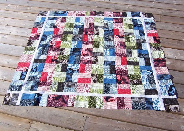 Jeweled Jelly Roll Quilt