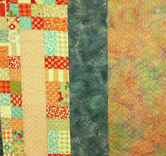 Pieced Backing with Quilting