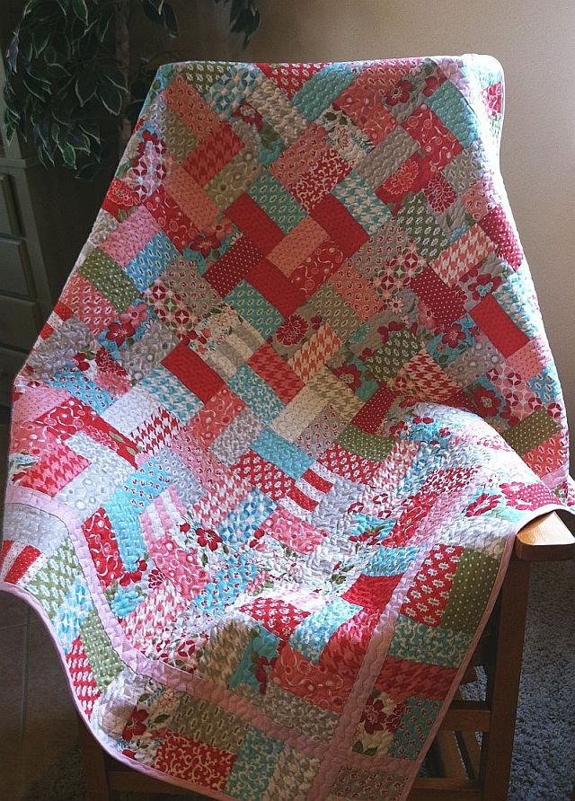 Christa S Quilt Along 1 3 Jelly Roll Quilt Top Christa