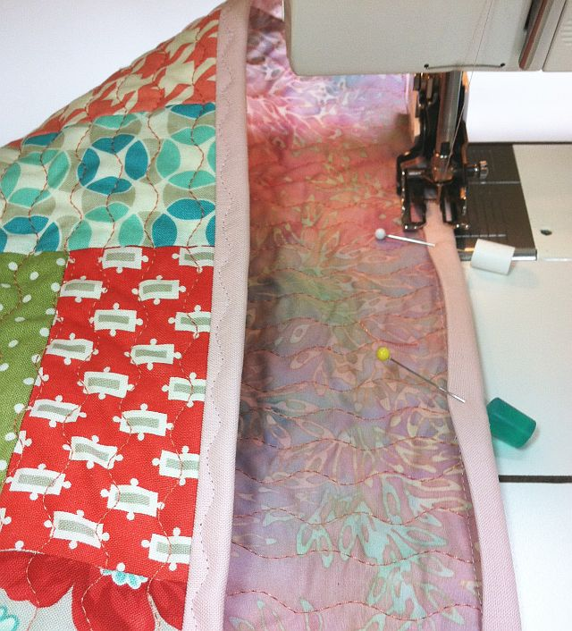 Christa's Quilt Along 1.6 – Machine Binding to Finish – Christa Quilts : how to sew a quilt binding - Adamdwight.com