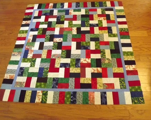 Laural's Jolly Jelly Roll Quilt