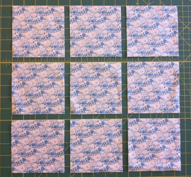 Cut Nine 4.5 Inch Squares