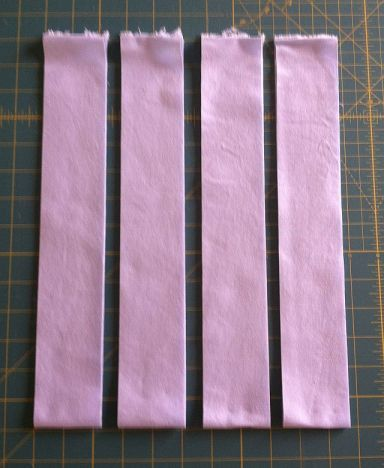 Cut 4 Binding Strips 2.25 Inches