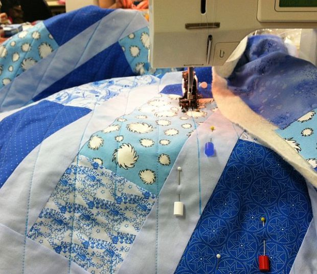 Quilting Straight Lines