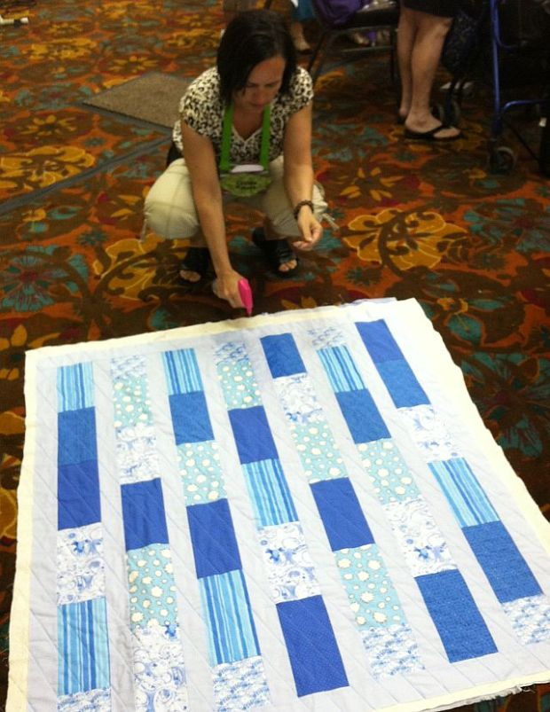 Spritzing the Quilt