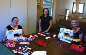 Piecing Wounded Warrior Blocks