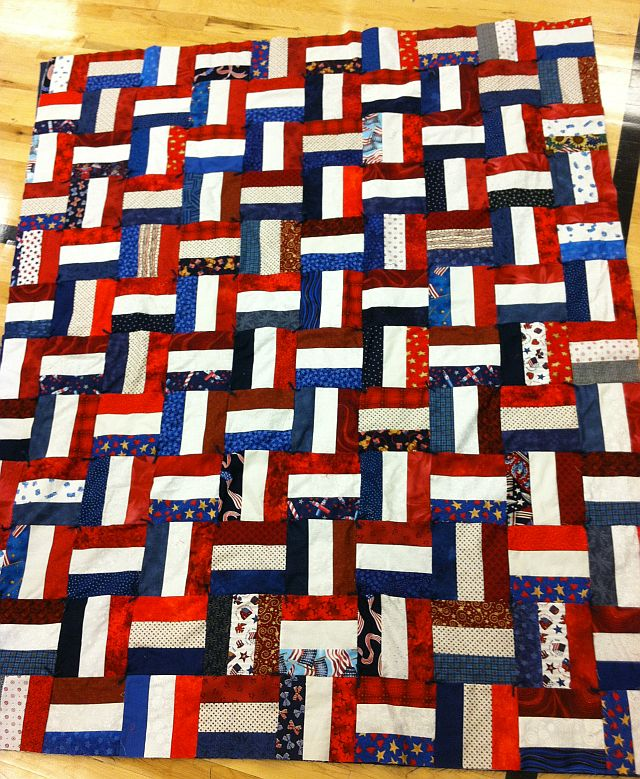 Wounded Warrior Quilt Basket Weave