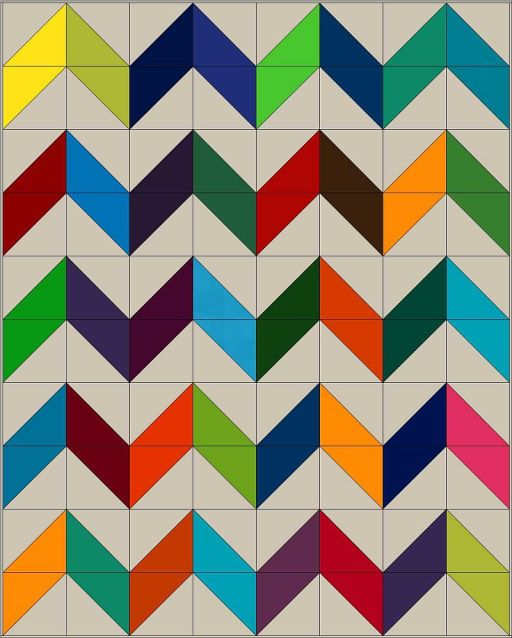 Charming Chevrons with Layer Cake Blocks