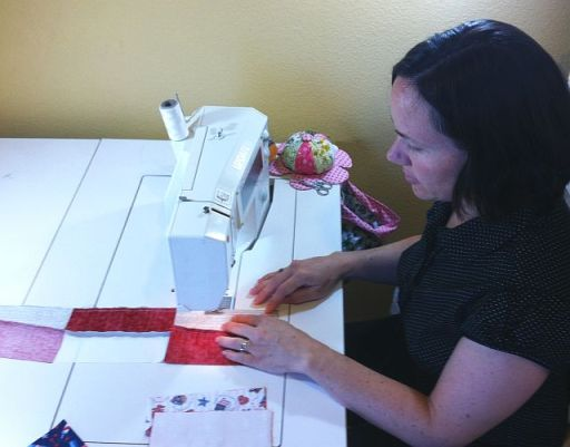 Sew Strips into Blocks