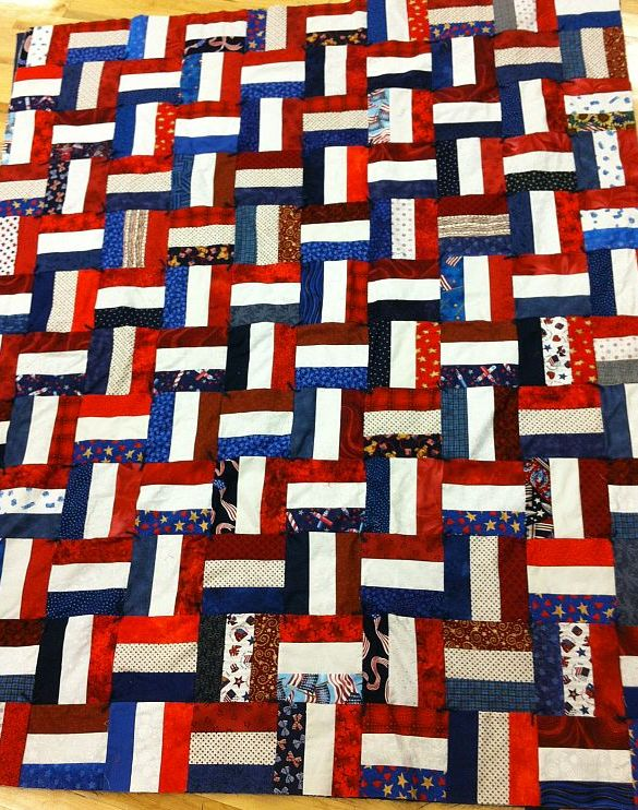 American Warriors Quilt Tutorial American Rails Quilt