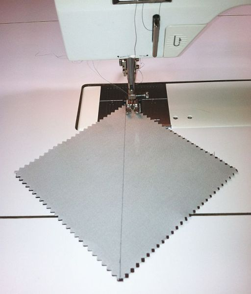 Sew 1/4 inch away from the line.