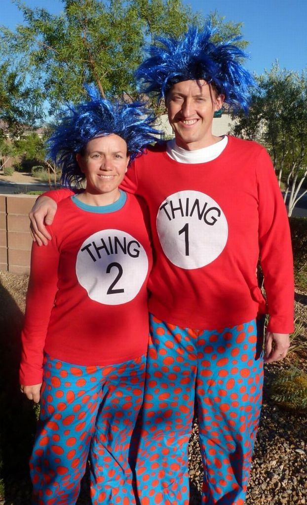 Thing 1 and Thing 2 Halloween Costumes