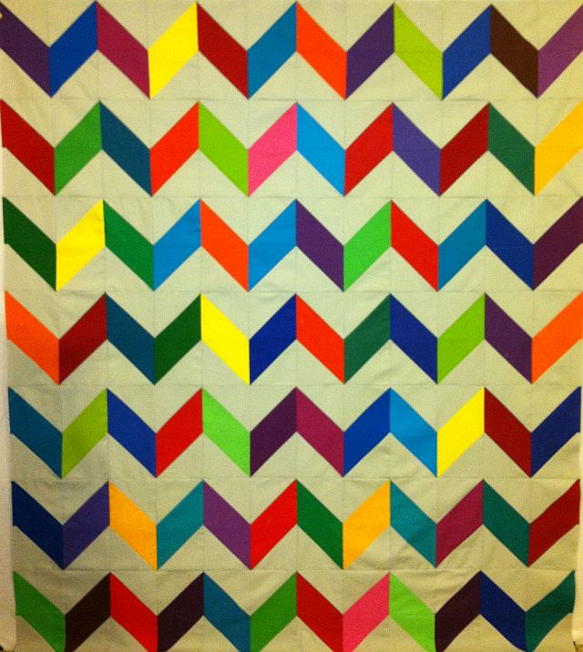 Charming Chevrons Quilt Top