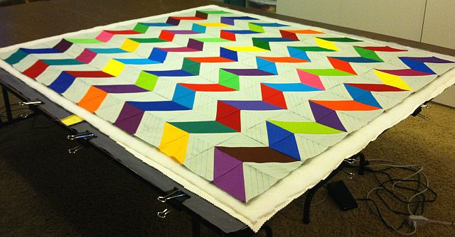 Christa's Quilt Along 3.6 – Marking and Basting the Chevrons ... : what is quilting - Adamdwight.com