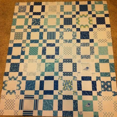 Sea of Squares Quilt Top
