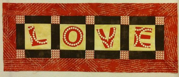 Aligning Letters to the Love Tablerunner