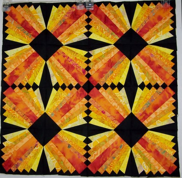 Modern Dresden Block Free Paper Pieced Pattern Christa