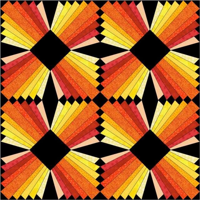 Modern Dresden Block Free Paper Pieced Pattern Christa Quilts