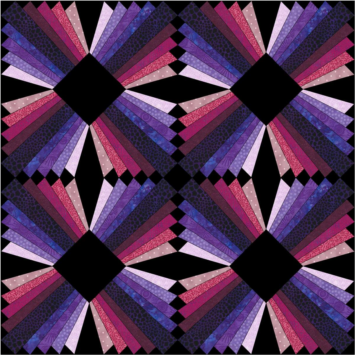 Modern Quilt Patterns Free Download : Modern Dresden Block Free Paper Pieced Pattern Christa Quilts