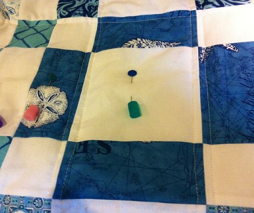 Quilting Vertical Lines
