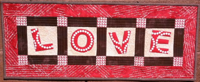 Love Table Runner