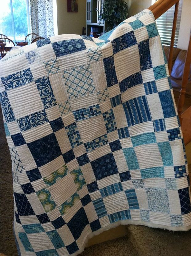Christa S Quilt Along 4 8 Sea Of Squares Extra Quilting