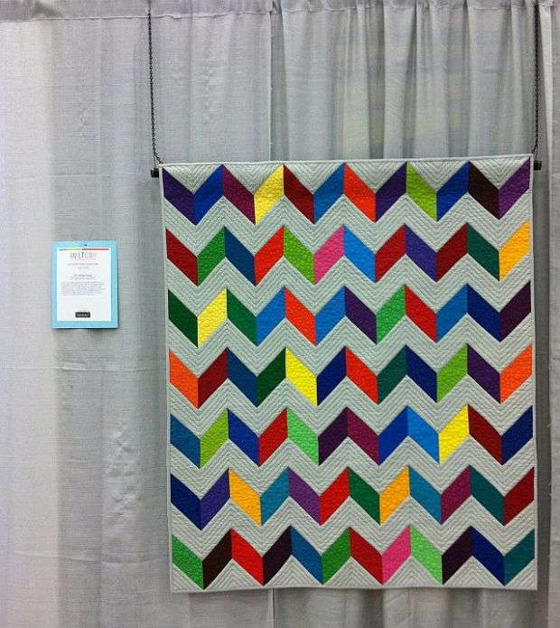 Charming Chevrons at QuiltCon 2013
